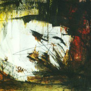 Abstract landschap 3, acryl op papier, 50x70cm. Te koop.