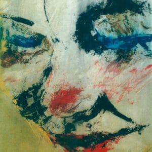 Zelfportret 1, acryl en krijt op papier, 70x50cm. Particulier bezit