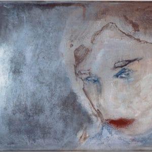 Zelfportret 9, inktpigment op papier, 40x60cm. Te koop in oplage.