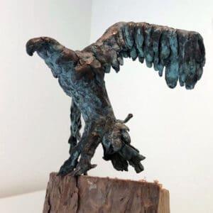 In brons gegoten vogel