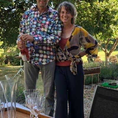 Maarten en Thera openen de expo